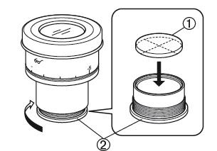 Вид изнутри на оправу сетки или шкалы